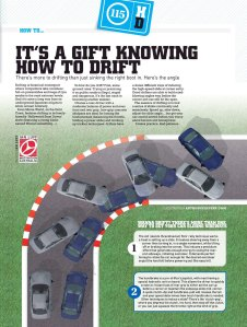 How to drift, Motor magazine, February 2009