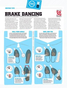 Heel and toe method for braking and overtaking, Motor magazine, April 2009