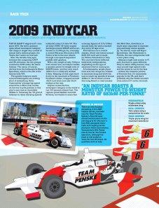 Indycar cutaway, Motor magazine, July 2009