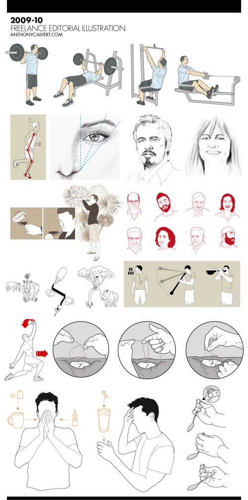 Anthony Calvert recent instructional illustrations